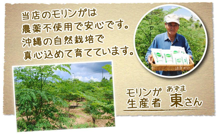 沖縄県産モリンガを使用