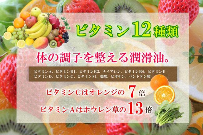 ビタミン12種類